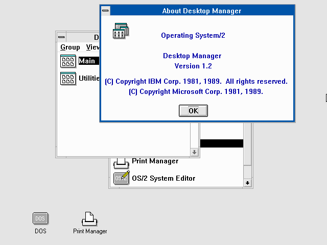 OS/2 1.2 Desktop Manager